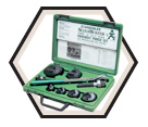 "1/2"" to 2"" Conduit - Slug-Buster® Knockout Punch Set w/ Ratchet Wrench"