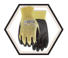 Palm Coated Gloves - Cut Level 3 - Kevlar / Stealth Desert Storm
