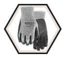 Palm Coated Gloves - Cut Level 3 - Synthetic / Stealth Dynamo