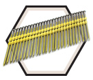 21° Smooth Shank Nails / Galvanized - Plastic Collated
