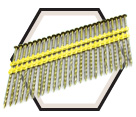 21° Spiral Shank Nails / Galvanized - Plastic Collated