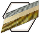 34° Smooth Shank Nails / Galvanized - Paper Strip
