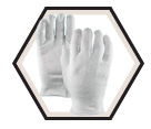 Fabric Gloves - Unlined - Ultra-Fine Cotton / Maitre'd