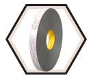 """Double-Sided Tape - 1"""" - Foam - Grey / RP16 *VHB"""