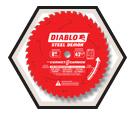 "Circular Saw Blade - 8"" - Ferrous & Stainless Steel - 42T / D0842CF *STEEL DEMON"