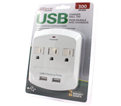 Wall Outlet & Charger - USB - White / 6618