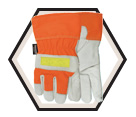 Winter Gloves - Thinsulate C100 Lining - Full Grain Cowhide / Winter Flashback