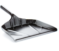 "Dustpan - 12"" Edge - Black / Metal"