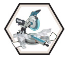 "Dual Sliding Compound Mitre Saw - 10"" dia. - 15.0 amps / LS1016L"