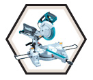 "Dual Sliding Compound Mitre Saw - 10"" dia. - 13.0 amps / LS1018L"