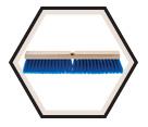 "24"" - Synthetic Fibre Fine Push Broom"