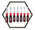 Nut Driver Set - 7pc - SAE - Magnetic / 48-22-2507