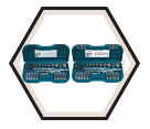 "Chrome Socket Set - 1/2"" - 6 Point / 13857 *57 Pc"