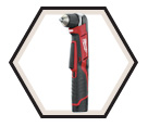 "Right Angle Driver Drill (Kit) M12™ - 3/8"" Chuck - 12V Li-Ion / 2415-21"