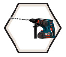 "Rotary Hammer (Kit) Bulldog™ - 9.6 lbs - 1"" SDS-Plus® - 36V Li-Ion / 11536VSR"
