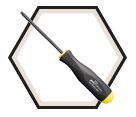 "Ball End Screwdriver - 3/8"" x 6.5"""