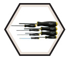 Screwdriver Set - Hex Drive - Standard - Ball End - SAE - 8pc / 10632