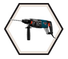 "Rotary Hammer (Tool Only) - 1-1/8"" - SDS-Plus - 8.0 amps / RH228VC *BULLDOG"