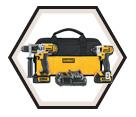 2 Tool Combo Kit - 20V Max Li-Ion / DCK290L2