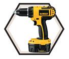 "Driver Drill (Kit) - 1/2"" Chuck - 14.4V Li-Ion / DC730KA"