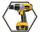 """Hammer Drill/Driver (Kit) - 1/2"""" Chuck - 18V Li-Ion / DCD970KL"""
