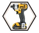 "Impact Driver (Kit) - 1/4"" Hex - 20V Max Li-Ion / DCF885C2"