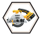 "Circular Saw - 6-1/2"" - 18V Li-Ion / DC390 Series"