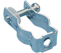 "Bolt Close Conduit/Pipe Clamp - 1.41"" – 1.74"" x 3/8"" - Steel / CD3B37 *ELECTROGALVANIZED"