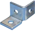 2 Hole Single Corner Connector - Right Hand - Steel / W10R0000EG *ELECTROGALVANIZED