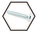 Flat Head; #8 Robertson Wood Screws / Zinc (PKG)
