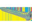 Pan / Round Head #8 Robertson Sheet Metal Screws / Zinc (PKG)