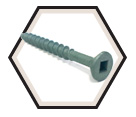 Flat 4 Lug Head #8 Robertson Decking Screws / Green Magnigard® (JUG)