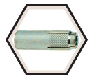 Coil Threaded Drop-in Anchor - Knurled - Zinc Plated / CTD