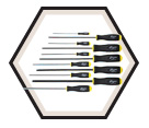 Screwdriver Set - Hex Drive - Long - Ball End - SAE - 11pc / 10737