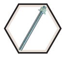"Anchor Rod Assembly - 1/2"" dia. - Zinc Plated Steel / PRA"