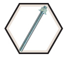 "Anchor Rod Assembly - 5/8"" dia. - Zinc Plated Steel / PRA"