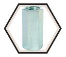 Rod Coupling - Carbon Steel / Zinc