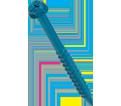 """Hex Washer Head 3/16"""" Super SCRU-IT® Anchor / RUSPRO® Coated"""