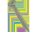 "Flat Countersink Head 1/4"" Robertson Super SCRU-IT® Anchor / RUSPRO® Coated"