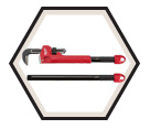 """Straight Pipe Wrench - 10""""/18""""/24"""" - Steel / 48-22-7314 *CHEATER"""