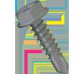 Hex Washer Head 10-16 TEK Screws / RUSPRO® Coated 410 Stainless Steel (Bulk)