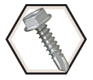 Hex Washer Head; 10-16 TEK Screws / RUSPRO® Coated 410 Stainless Steel (Bulk)