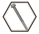 Hex Washer Head; 12-24 Self-Drilling TEK Screws / RUSPRO® Coated (BULK)