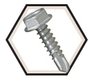 Hex Washer Head 8-18 TEK Screws / RUSPRO® Coated 410 Stainless Steel (JUG)