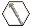 Hex EPDM Washer Head 1/4-28 Self-Drilling TEK Screws / RUSPRO® Coated (BULK)