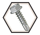 Hex Washer Head 1/4-14 TEK Screws / RUSPRO® Coated Stainless Steel (JUG)