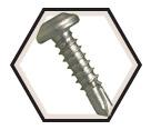 Pan Head; 10-16 Robertson TEK Screws / RUSPRO® Coated 410 Stainless Steel (BULK)