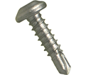 Pan Head 10-16 Robertson TEK Screws / RUSPRO® Coated 410 Stainless Steel (JUG)