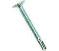 Wafer Head w/o Reamer 10-24 Robertson Self-Drilling TEK Screws / Zinc Plated (Bulk)