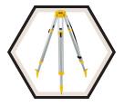 "Tripod - 5/8"" x 11 Thread - Flat Head / DW0736 *CONSTRUCTION"
